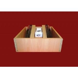 Ball Bearing Runner Bedroom Drawer Box - 400mm D x 250mm H x 1000mm W