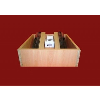 Ball Bearing Runner Bedroom Drawer Box - 500mm D x 250mm H x 450mm W