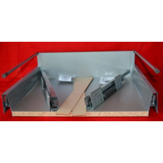 DBT Pan Soft Close Kitchen Drawer Box With Rail  - 500mm Deep x 180mm High x 800mm Wide