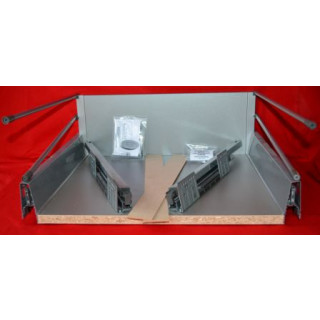 DBT Pan Soft Close Kitchen Drawer Box With Rails  - 400mm Deep x 224mm High x 500mm Wide
